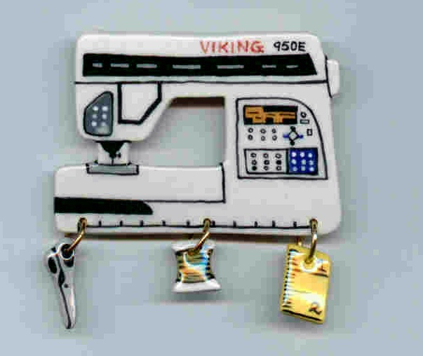 Ceramic Sewing Machine Pin Viking 950E Handcrafted