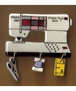 Ceramic Sewing Machine Pin  Pfaff 2027 Handcrafted - $14.95