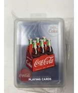Bicycle Coca-Cola Coke Clear Playing Cards with Plastic Case Set Of 4 - $26.18
