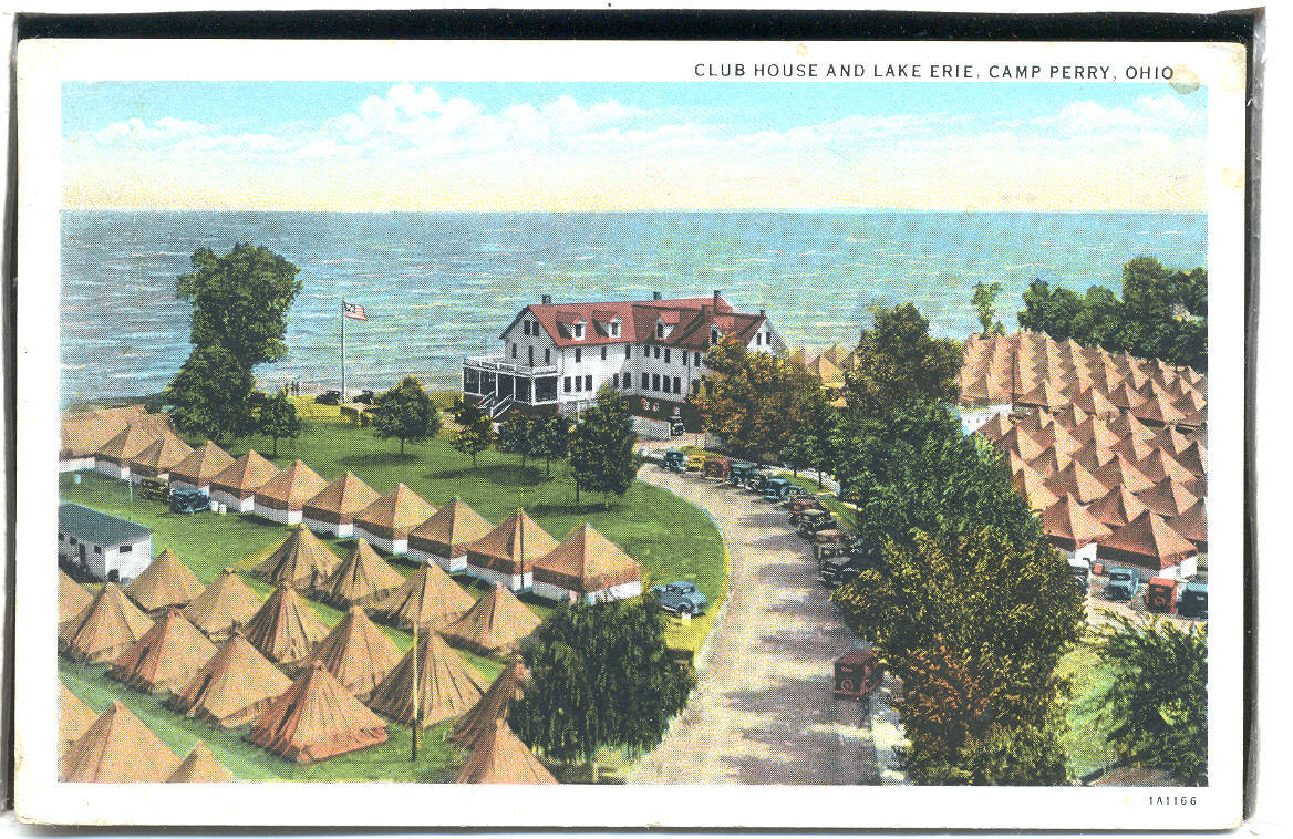 Club house & lake Erie Camp Perry OHIO  1.19