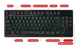 QSENN SEM-DT25T Korean English Gaming Tenkeyless Keyboard USB Wired Compact image 3