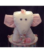 Pink DIAPER ELEPHANT Diaper Cake TOPPER ONLY Gi... - $28.00