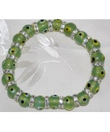 Light Green Evil Eye Bead Bracelet - $12.95
