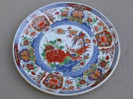 Japenese Shogun Dynasty Plate Colorful Birds Flowers - $15.00