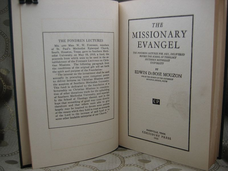 The Missionary Evangel by Edwin DuBoise Mouzon 1925