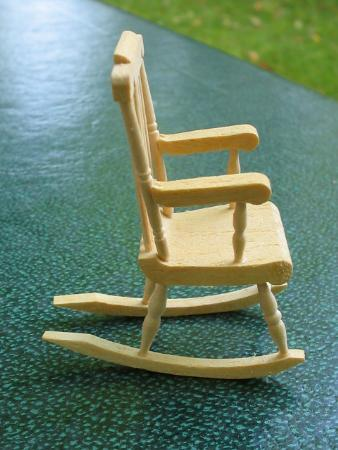 Miniature Boston Rocker Rocking Chair Dollhouse NIB
