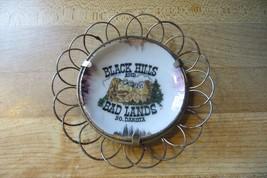 Vtg.mini obsolet Black Hills & Bad Lands South Dakota plate with circles... - $14.25