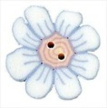 """Large Beth's Daisy 2220L handmade clay button .75"""" JABC Just Another Button C - $2.00"""