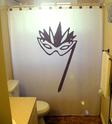 Mardi gras mask shower curtain  65