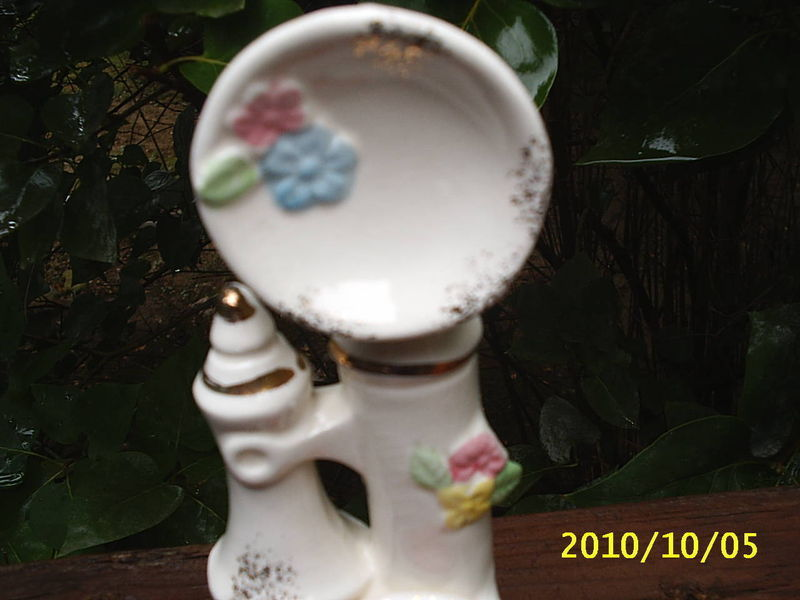 VINTAGE Ceramic Telephone/PHONE PIN CUSHION  Made in JAPAN~H
