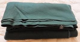 "Ralph Lauren LRL Throw Blanket 100% Acrylic USA Green KING 108""x90"" Vintage - $119.95"