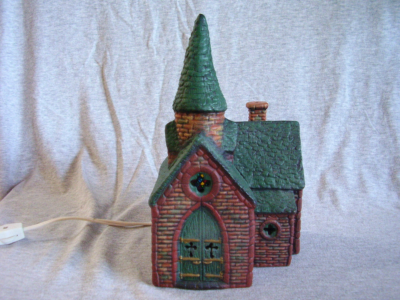 Ceramic Lighted Christmas Village Church