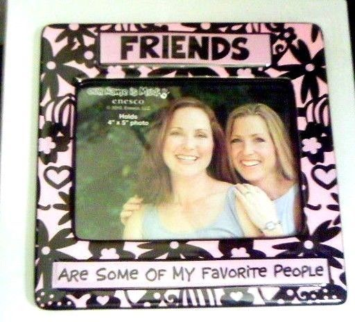Primary image for Friends Favorite Picture Frame Hearts Tabletop Our Name Is Mud Pink 4 x 6 Photos