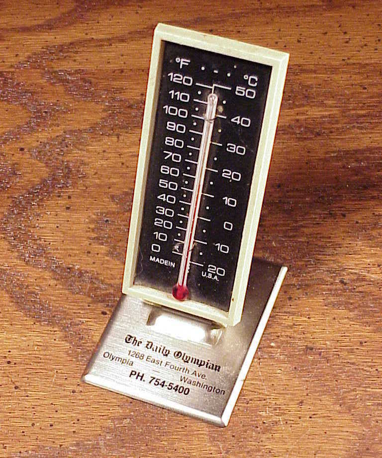 Daily Olympian Newspaper Advertising Thermometer from Olympia Washington, WA