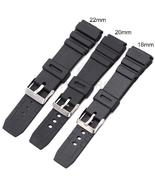 18 20 22mm Men Sport Silicone Rubber Watch Band for Casio Watch Strap Bands - $12.99