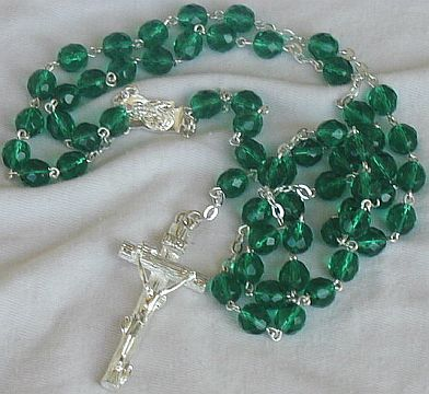 utiful green beads rosary