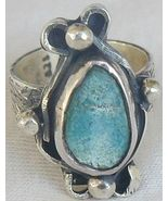 Pressed Eilat stone ring - $28.00