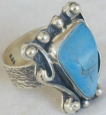 Turquoise press ring SR65