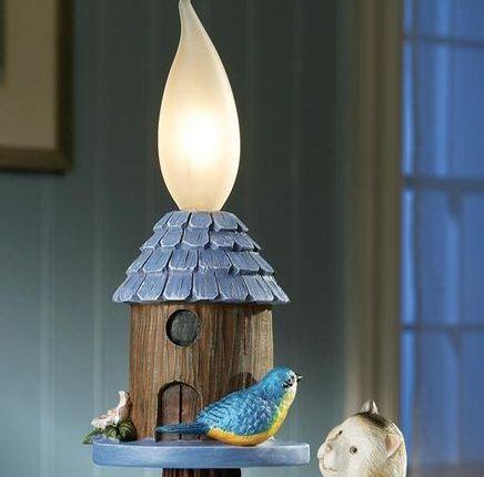 Bluebird And Cat Outdoor Lighting