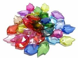 PANDA SUPERSTORE 50 PCS Leaf Crystal Beads Assorted Pendants for Craft Unique Be
