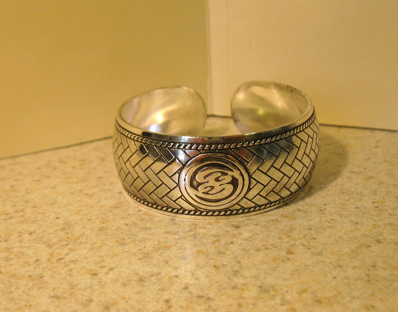 BRACELET BEAUTIFUL SILVER CUFF BRICK WORK DESIGN #154