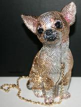$5695 NIB Judith Leiber Couture Chihuahua Minaudiere Bag Clutch Handbag - $3,959.01