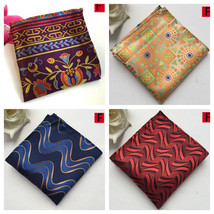 Purple Yellow Blue Red Black Patterned Pocket Square Handkerchief - $6.71