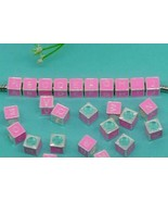 Pink Name Initials Letter Cube Charm Beads for European Charm Bracelets ... - $13.86