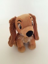 """DISNEY Lady and the Tramp brown LADY THE PUPPY DOG 6"""" small plush - $5.89"""