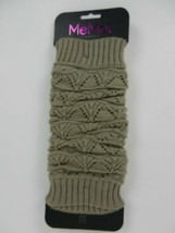 MeMoi Legwear Women's Leg Warmers Taupe Brown Knitted One Size New - $19.78