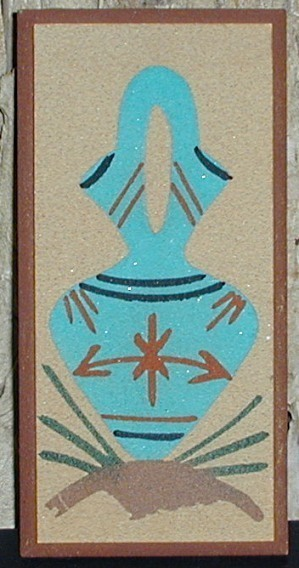Primary image for Navajo Sand Painting Vase Signed Robert Lee