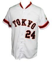 Yoshinobu Takahashi 24 Yomiuri Giants Tokyo Button Down Baseball Jersey Any Size image 1