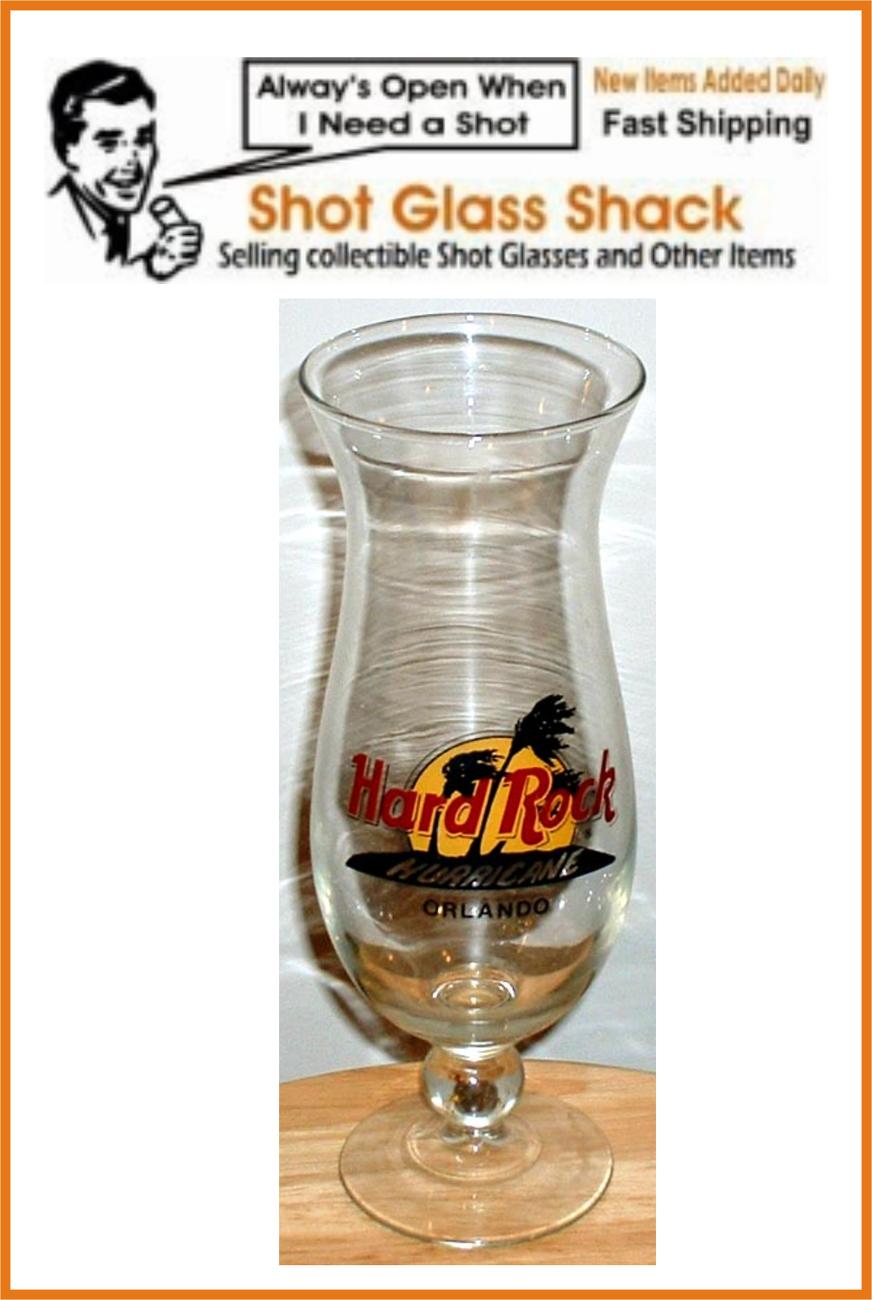 Hard Rock Cafe Hurricane Glass Orlando