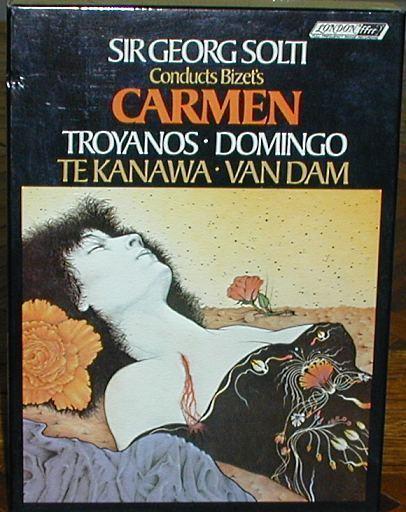 1976 Solti Conducts Bizet's Carmen Boxed Set 3 Cassettes