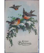 Hermann Wolff, Divided back, Embossed Gel Christmas Postcard, A Merry Ch... - $6.00