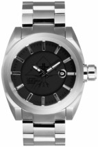 L.R.G Lifted Research Group Timing Silver/Black/Silver Stainless Force Watch NIB