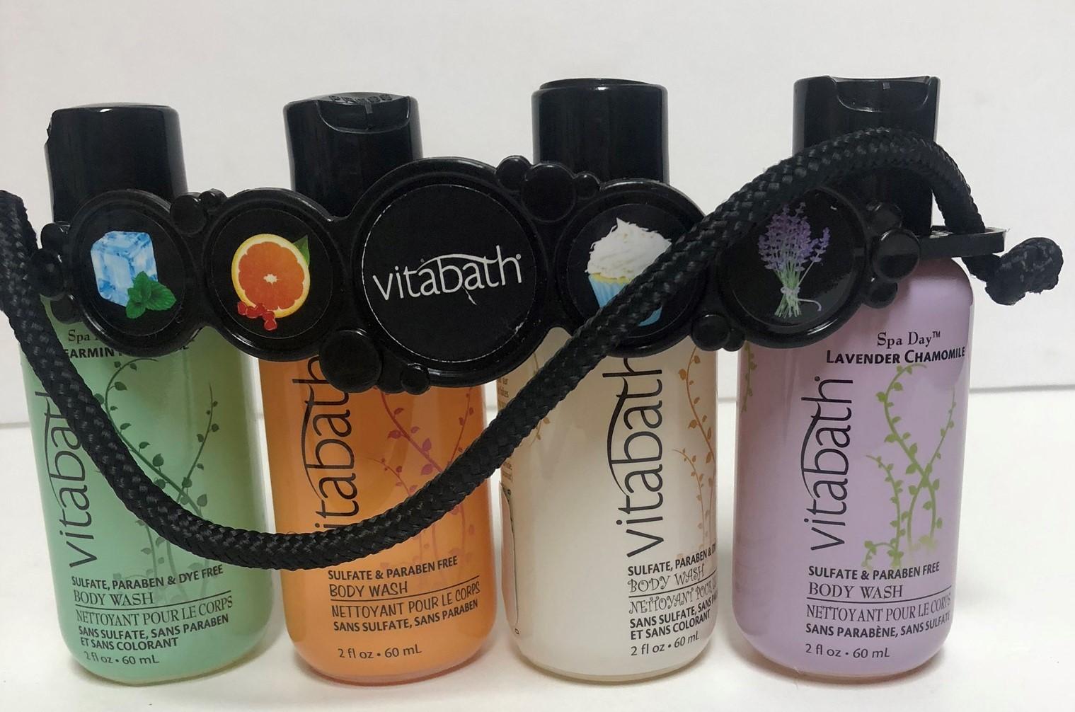 Vitabath Gift Set Body Wash 4-2 OZ Bottles Spearment Orange Coconut Lavender image 2