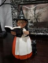 "Halloween Primitive Vintage Style Witch Black Cat Resin Tabletop Decor 8"" - $27.99"