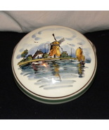 Vanity trinket Powder Box Ceramic Delft Holland... - $20.00