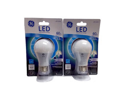 GE LED Lightbulb 60W Uses 11W A19 800 Lumens 2 Pack - $14.01