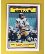 DAN FOUTS AUTOGRAPHED CARD 1983 TOPPS RECORD BREAKER SAN DIEGO CHARGERS - $5.34