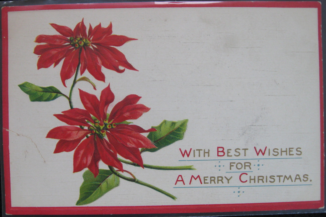 Primary image for Sam Gabriel, Early Divided back, Embossed Christmas Postcard,  Best Wishes For a