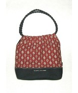 Tommy Hilfiger Canvas Shoulder Bag Purse Tote - $14.99