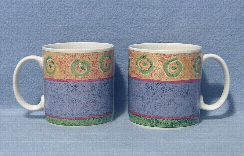 Sakura Malaga 2 Coffee Mugs Designed by Sue Zipkin 1995