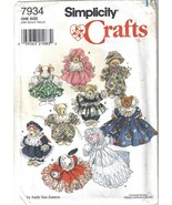 """Simplicity 7934 Fancy Clothing for 8"""" to 9"""" Stuffed or Beanbag Animals U... - $6.99"""