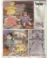 "Vogue Pattern 2592 Baby Doll Wardrobe 13""-15"" / 18""-20"" Uncut - $9.99"