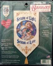 Dimensions Mini Banners Kit Season of Light and Love Christmas Cross Stitch 8728 - $16.77