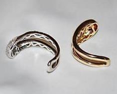 14k Gold Puzzle Ring with Diamonds Ciemme Yin Yang Motif 1.25 carats 11.3 grams