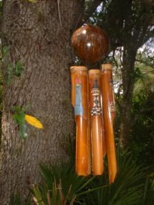 Real coconut top Bamboo WindChime Lighthouse windchime north