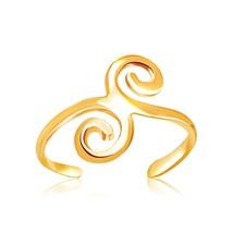 Solid 14k Yellow Gold Scrollwork Motif Swirl Design Toe Ring For Women Teen Kids - $74.79